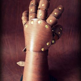 fantasy leather gauntlet