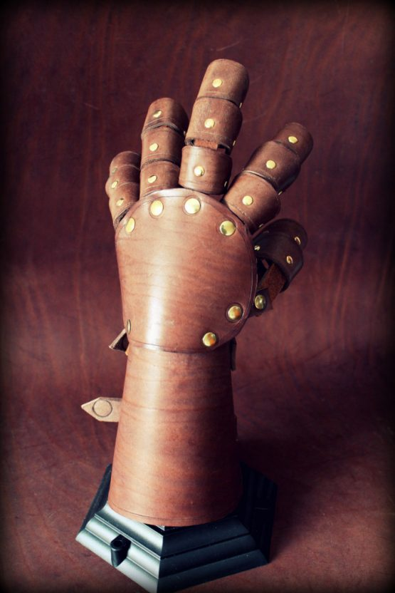 fantasy leather gauntlet