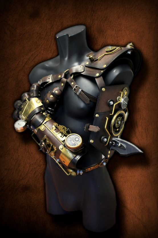 steampunk armor arm