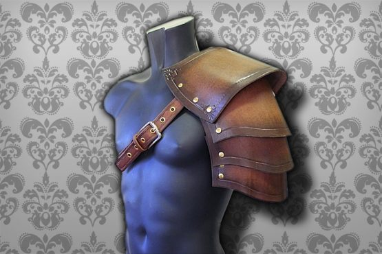warrior medieval pauldron