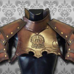 medieval warrior gorget set