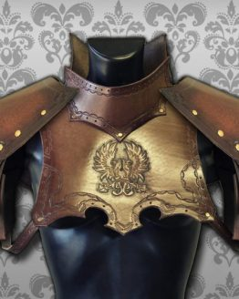 medieval warrior gorget set