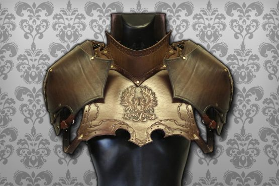 medieval gorget set